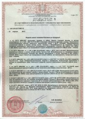 Addition 1 to the P90 certificate on trays of TM SCaT and cable of «HASTEL KABLO»